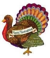 "33"" Thanksgiving Turkey Balloon"