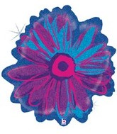 "23"" Holographic Violet Purple Flower Balloon"