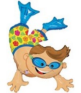 "47"" Foil Super Shape Boy Diver Balloon"
