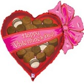 "30"" Happy Valentines Day Chocolates Balloon"