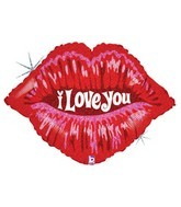 "30"" I Love You Lips SuperShape Mylar Balloon"