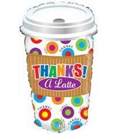 Jumbo Thanks a Latte Balloon