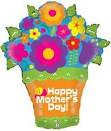 "32"" Mother&#39s Day Flower Pot Balloon"