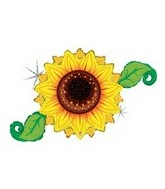 "46"" Holographic Linky Sunflower Balloon"
