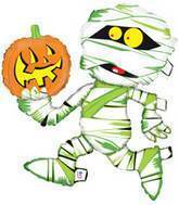 "43"" Mummy with Pumpkin Balloon"