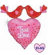 "34"" Holographic True Love Birds With Heart Shape"