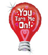 "35"" You Turn Me On Lightbulb Balloon"