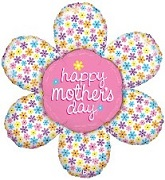 "44"" Happy Mother&#39s Day Spring Daisy Balloon"