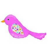 "37"" Chirp  Pink Bird Super Shape"