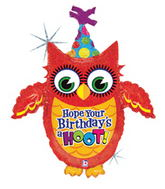"36"" Jumbo Have A Hoot On Your B-Day Balloon"