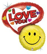"34"" Smiley Says ""i Love You!"" Shape Balloon"