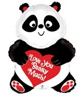 "32"" Love You Beary Much! Panda Balloon"