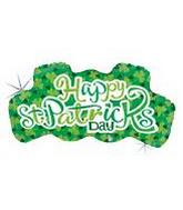"38"" St. Patricks Day Holographic Message"