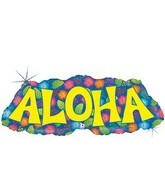 "38"" Holographic Aloha World  Balloon"