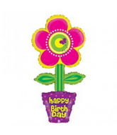 "44"" Happy Birthday Flower Pot"