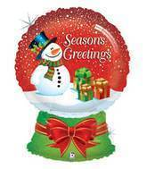 "31"" Seasons Greetings Snow Globe Balloon"