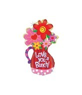 "37"" Love You A Bunch Jumbo Mylar Balloon"