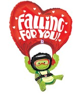 37&#39&#39 Turtle Falling For You Balloon