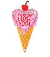 "41"" I Love You Scoop of Ice Cream SuperShape"