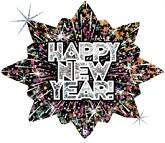 "32"" Holographic Bursting New Year Balloon"