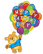 "42"" Father&#39s Day Balloon Bunch Bear Shape"