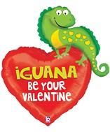 "37"" Iguana Be Your Valentine"