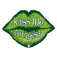 "30"" Kiss Me I'm Irish Lips"