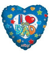 "4"" Airfill Only I Love You Dad Balloon"
