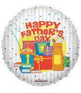 "9"" Airfill Father´s Day Stripes Balloon"