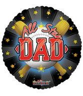"9"" Airfill Most Valuable Dad Baseball Balloon"