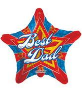 "9"" Airfill Best Dad Starburst Balloon"