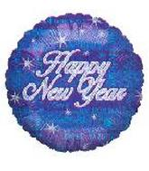 "18"" Happy New Year Blue Sparkling Dazzle"
