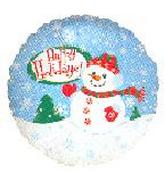 "18"" Happy Holiday Snowman Balloon"