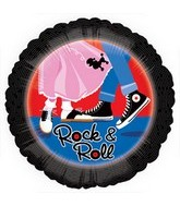 "18"" 50&#39s Rock & Roll Mylar Balloon"