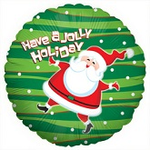 "18"" Have A Jolly Holiday Santa Mylar Balloon"