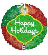 "18"" Happy Holiday Ornament Mylar Balloon"