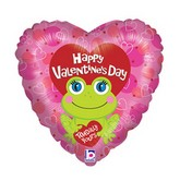 "18"" Toadally Yous Valentine Mylar Balloon"