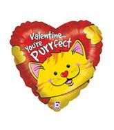 "18"" Purrfect Kitty Valentine Balloon"