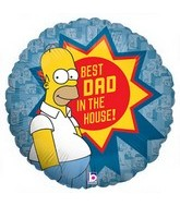 "18"" Best Dad Homer Simpson Balloon"
