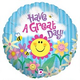 "18"" Happy Garden Great Day Balloon (sold slightly damaged)"