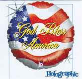 "18"" God Bless America Holographic"
