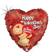 "18"" Lion Hearted Valentine Balloon"