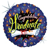 "18"" Congratulation Grad Burst"