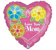 "18"" Love You Mom Pink Heart"