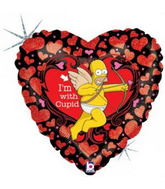 "18"" I&#39m With Cupid Simpsons Balloon"