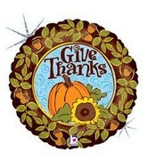 "18"" Give Thanks Pumpkin Balloon"