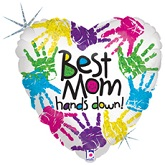 "18"" Best Mom Hands Down Balloon"