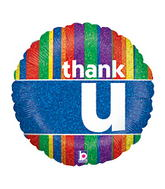 "18"" Colorful Thank U Balloon"