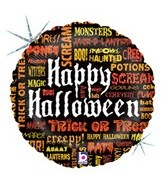 "18"" Scary Words Halloween Balloon"