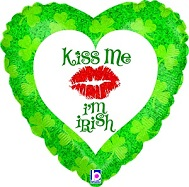 "18"" Kiss Me I&#39m Irish Holographic"